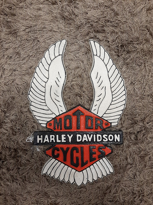 Cast iron Harley Davidson sign (Reproduction