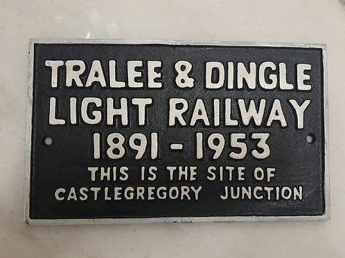 Cast iron train sign (Reproduction)