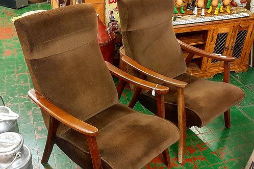 2 Vintage Fireside draylon brown chairs🔥🪑🪑