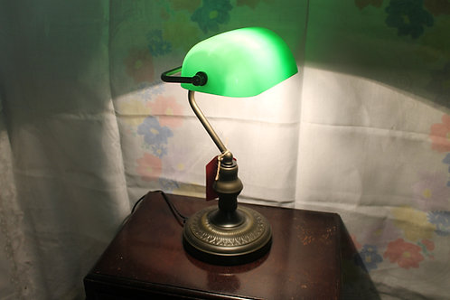 Green office desk lamp (Reproduction)
