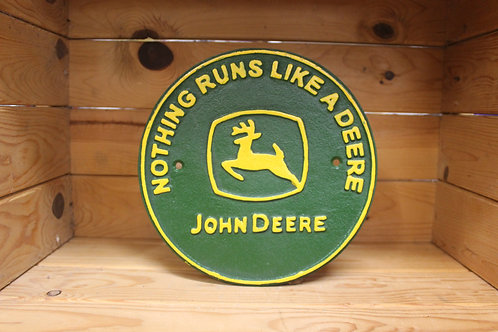 John Deere (Cast iron Sign)