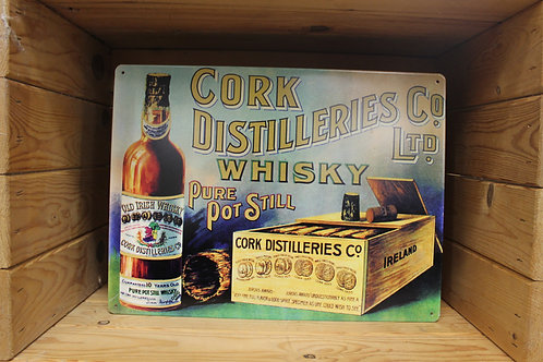 Cork distillers (L) Metal sign