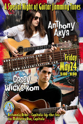Anthony Arya with Casey Wickstrom at Britannia Arms