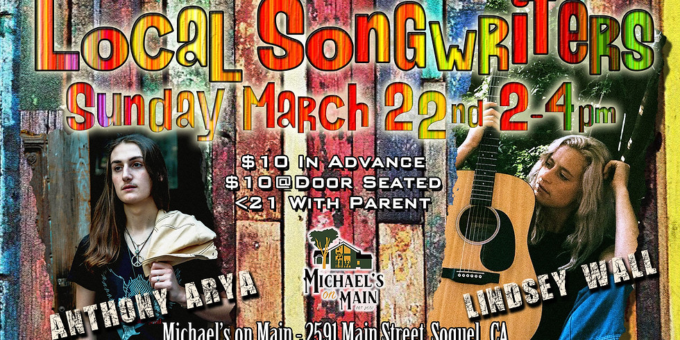 Anthony Arya & Lindsey Wall: Live at Michael's on Main