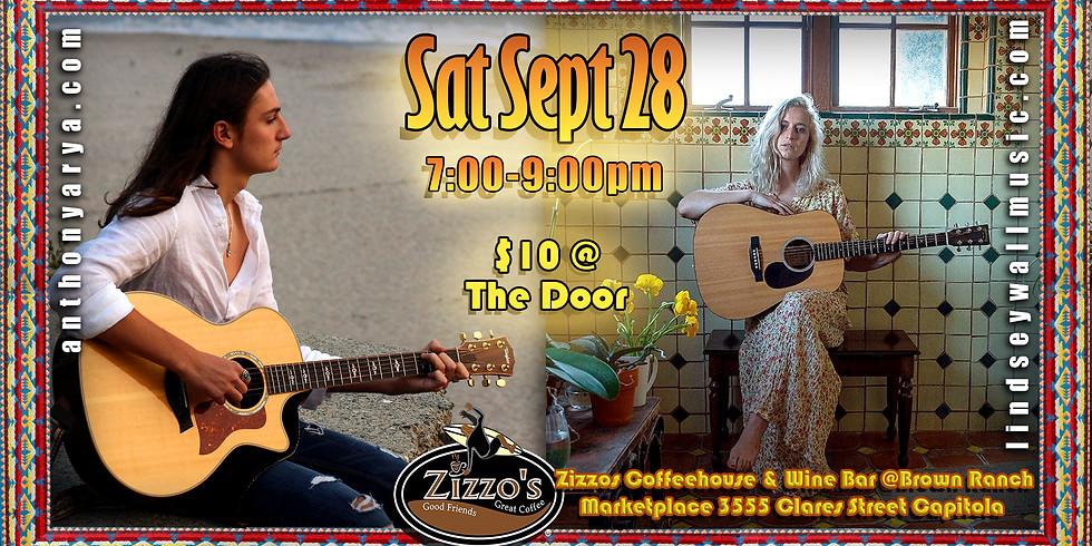 Anthony Arya & Lindsey Wall: Live at Zizzo's