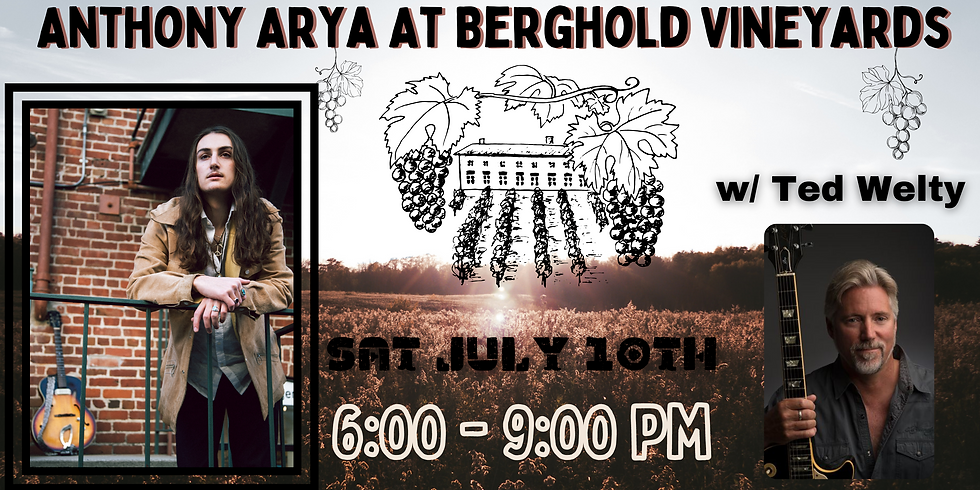 Anthony Arya w/ Ted Welty: Live at Berghold Vineards (Lodi, CA)