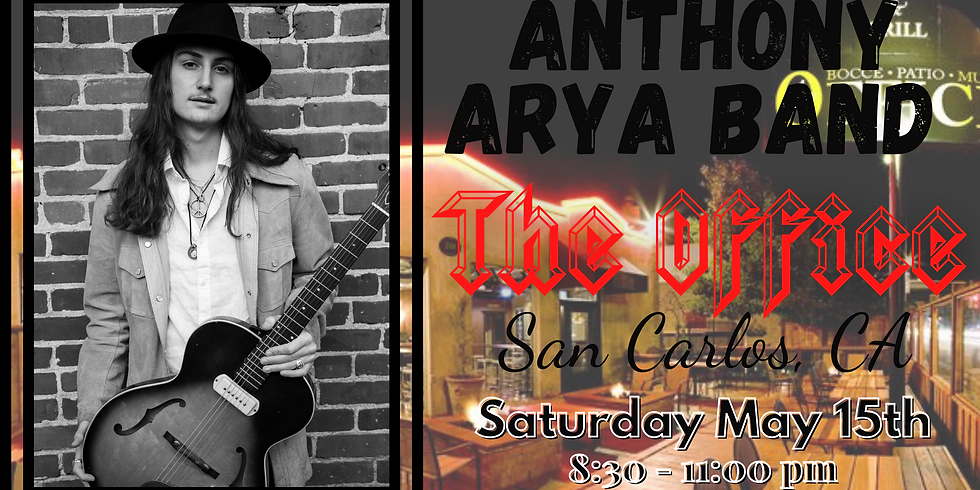 Anthony Arya full band at The Office in San Carlos