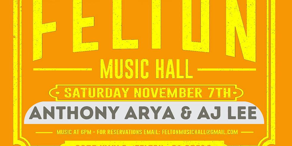 Anthony Arya & AJ Lee - Live at Felton Music Hall