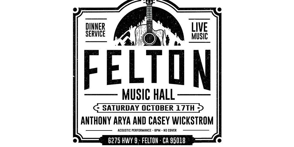 Anthony Arya & Casey Wickstrom at Felton Music Hall