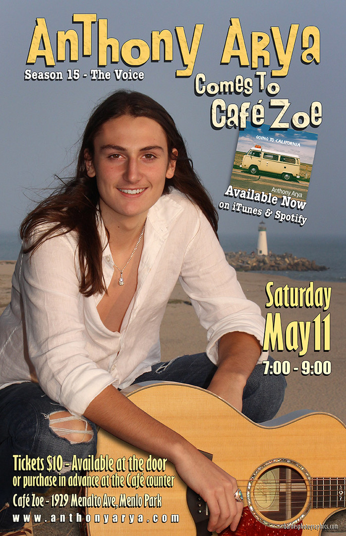 Anthony Arya at Cafe Zoe