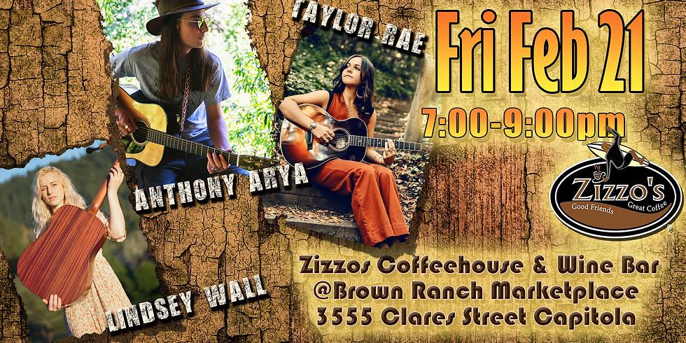 Anthony Arya, Taylor Rae, & Lindsey Wall - Live at Zizzo's