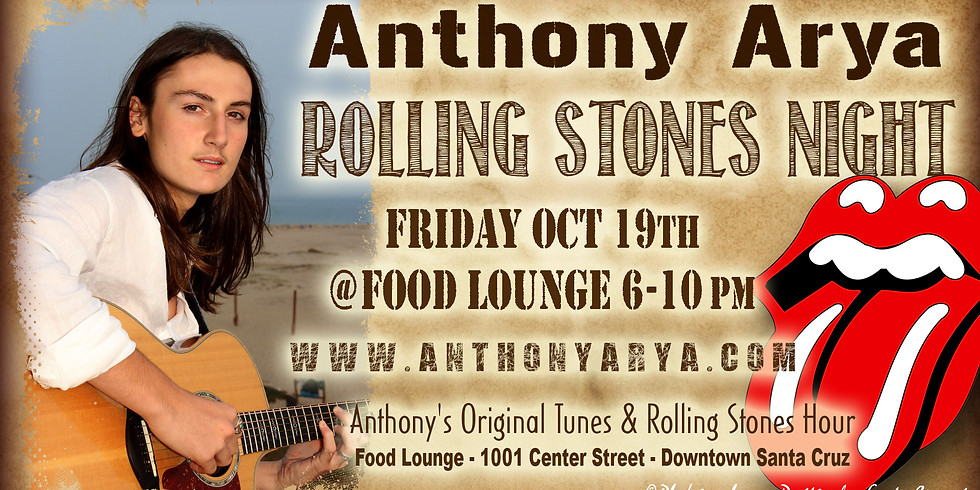 Anthony Arya Rolling Stones Night - Live at the Food Lounge