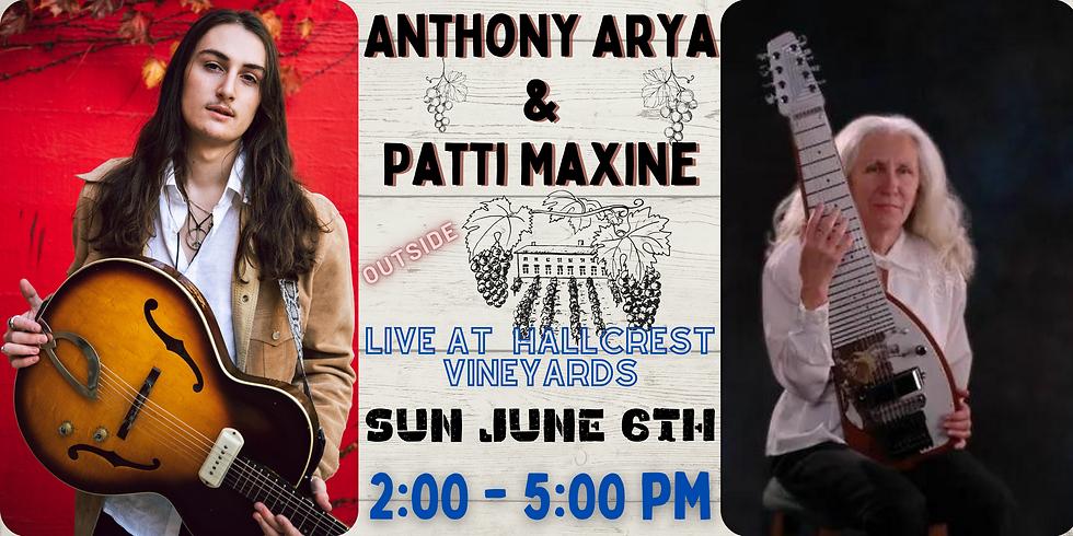 Anthony Arya & Patti Maxine: Live at Hallcrest Vineyards