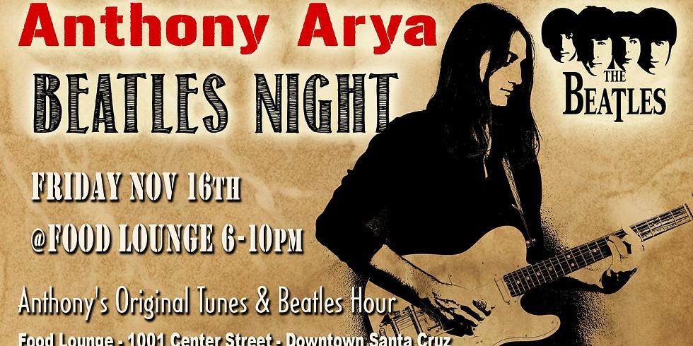 Anthony Arya Beatles Night: Live at the Food Lounge