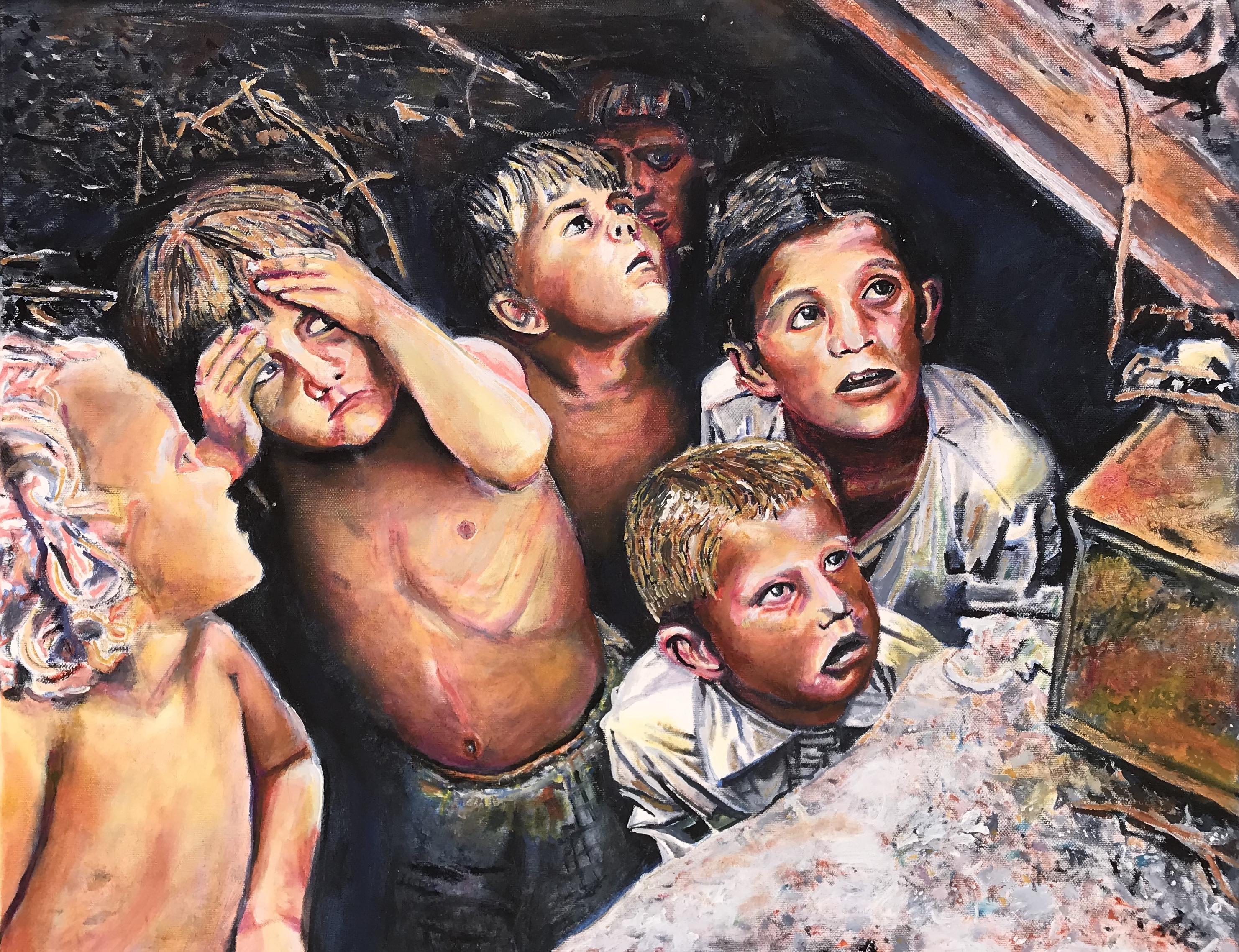 Frightened Children WWII Belarus
