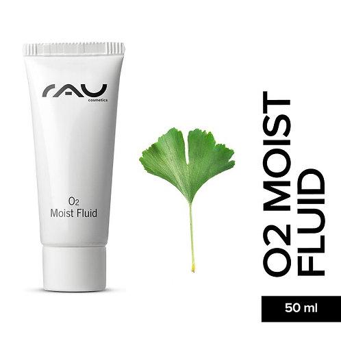 RAU O2 Moist Fluid 8 ml - durchblutungsförderndes Fluid mit Hyaluronsäure & Gink