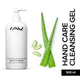 RAU Hand Care Cleansing Gel 500 ml - Handreinigung mit 70% Alkohol, Aloe Vera, J