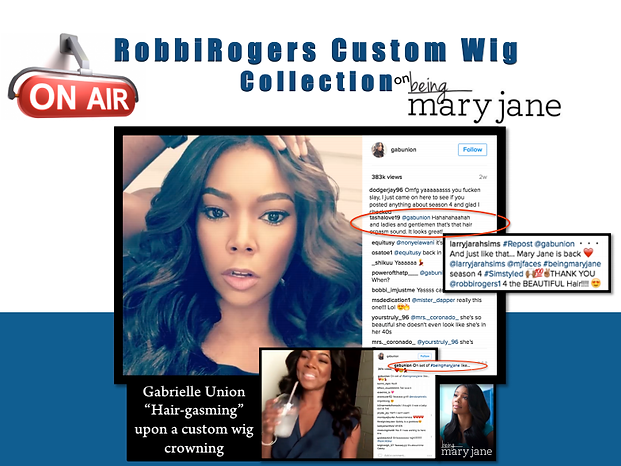 Gabrielle Union in picture with one of our wigs in a instagram post