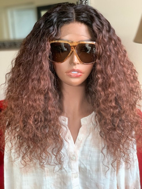 "18"" Deep Wave Closure wig ( Auburn Color)"