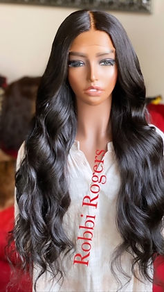 """26"""" middle part wig styles in beach waves"""