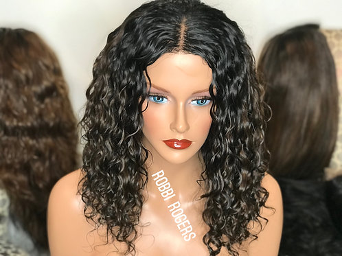 "Sherri   14"" Luxurious wave  ( 2.5 bundls and 5x5 lace closure)"