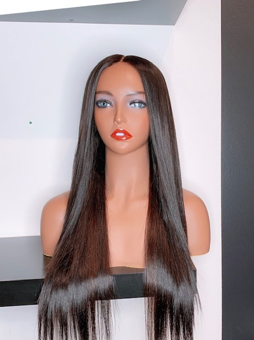 "20"" NIECY Straight  Lace closure wig"