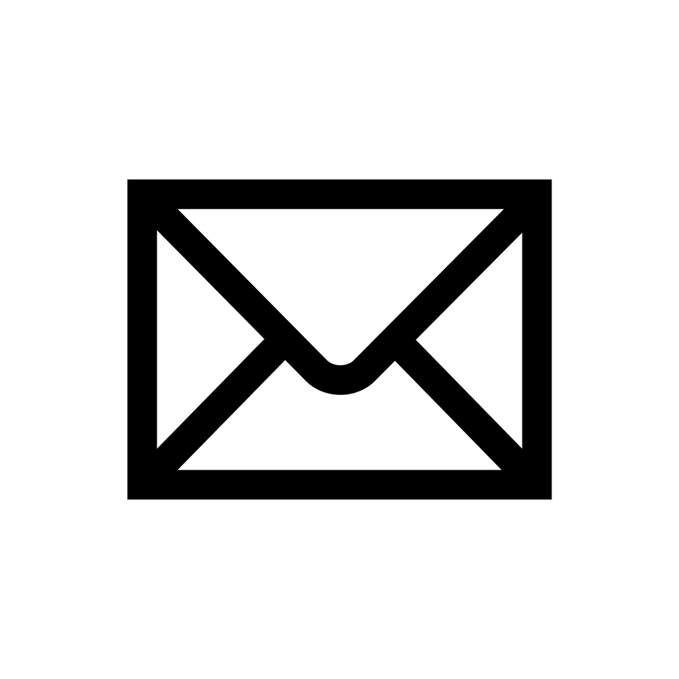 Black Email Logo