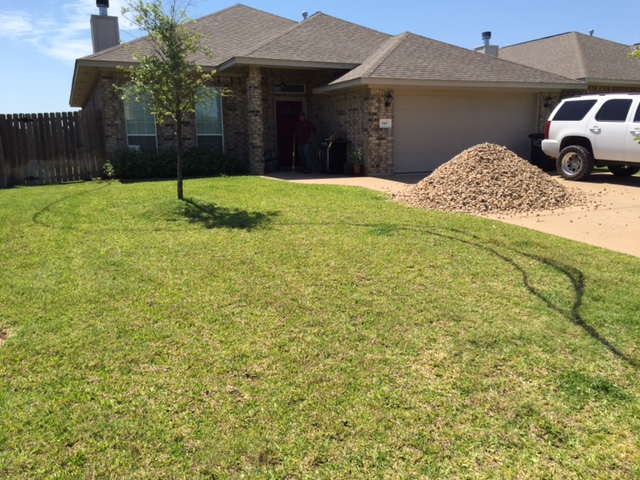 Before - Stonework & Mulch
