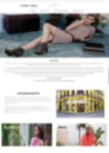 CCI web page mockup for Pure Soul Boutique