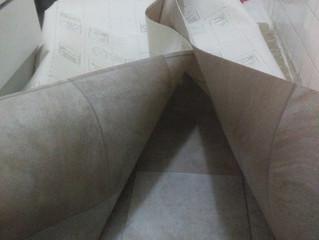 Suelo de PVC desplega corta y pega