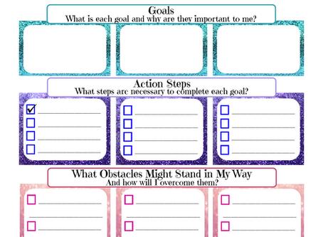 Monthly Goal Worksheet