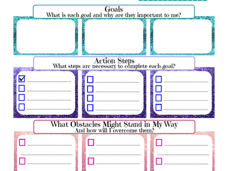 Monthly Goal Worksheet