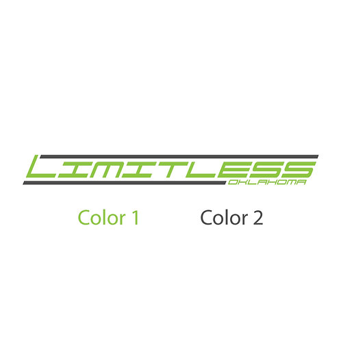 Limitless 2 Color Decal