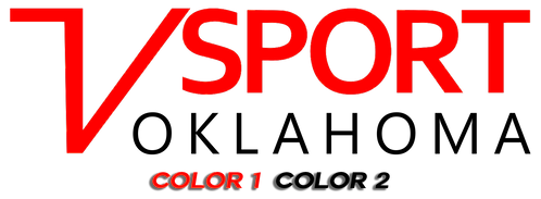 V Sport Oklahoma Horizontal Decal - 2 Color Version