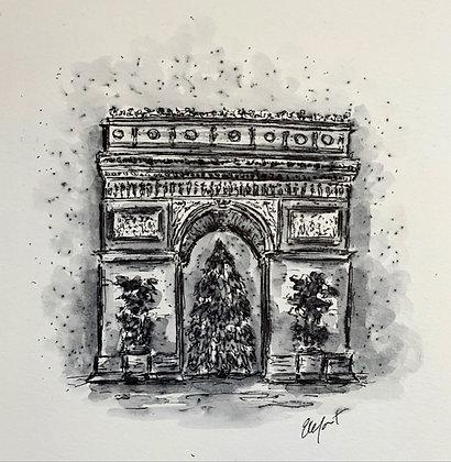 Arc de Triomphe at Christmas