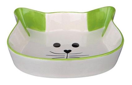 Ecuelle céramique tête de chat.