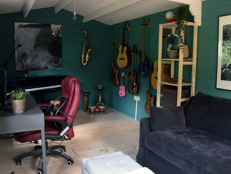 From Art to Music : How my Garden Studio evolved in Lockdown