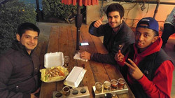 They got the sample of beers and two orders of fries !! They were ready for the weekend !! Sadly it
