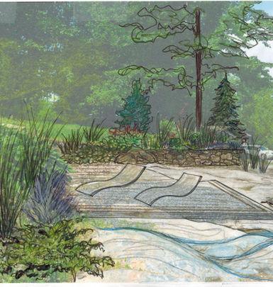 NaturEden Création de plan aménagement paysager extérieur piscine jardin