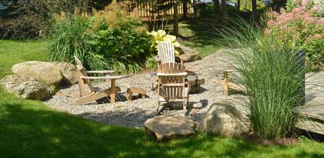Jardin minimaliste, avenue Champlain, Bromont