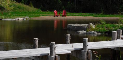 Étang zen, Orford