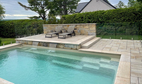 In-ground pool, Bromont