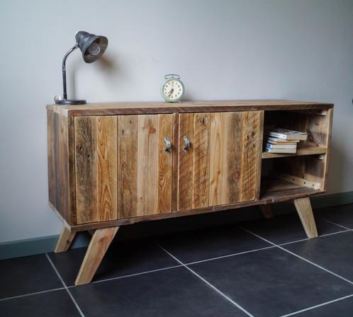 Meuble tv palette graphik créateur de mobilier en bois de palette
