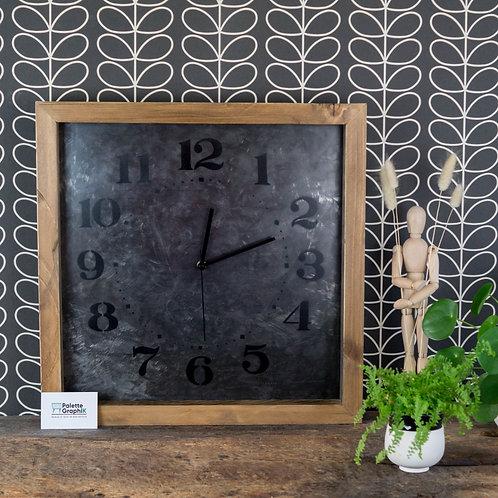 Grande horloge bois&métal