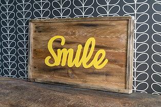 Cadres décoratif, cadre en bois, Smile