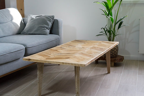 Table basse chevrons