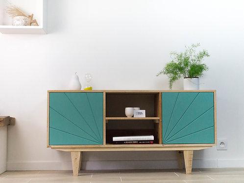 Meuble télé, meuble télé de style vintage, meuble en bois recyclé