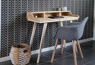 Bureau scandinave, console vintage, coiffeuse en bois recyclé