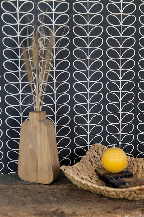 Vase en bois pour fleurs séchées