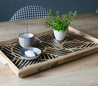 Plateau en bois, plateau à thé/café